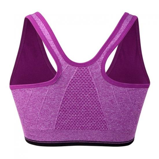 Zipper Yoga Bra Top, Women Padded Yoga Sports Top,Breathable Workout Running Fitness Gym Yoga Bra