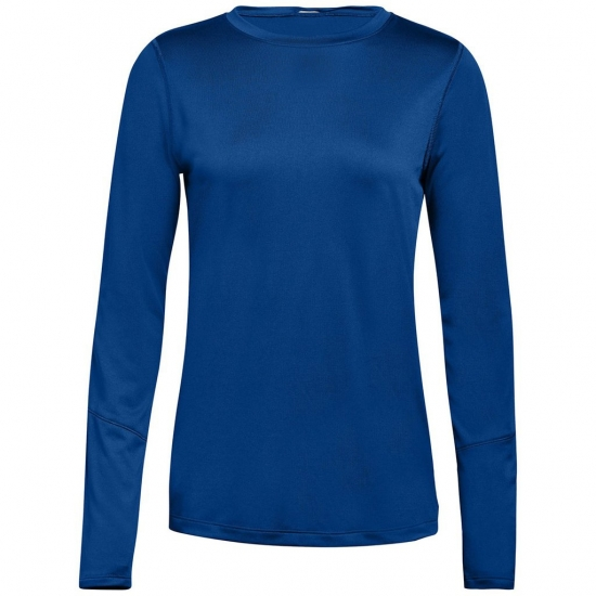 Women Solid Color Full Sleeve Fitness Wear Tees