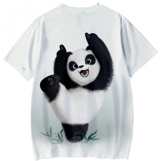 Animal Panda 3D T Shirt Girls Casual Short Sleeve Cool T Shirt Funny Cute Tees