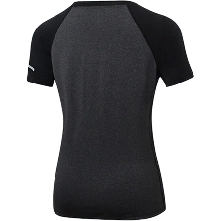 Black Gym Top Sports Wear For Women Gym Qucikly Dry Yoga Shirt Seamless Short Sleeve Fitness T Shirt