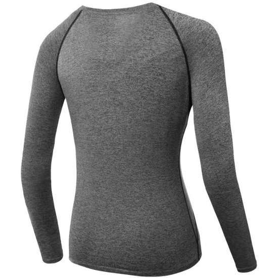 Women Yoga Top Long Sleeve Fitness Yoga Running T Shirt Running Sports Quick Drying Clothes