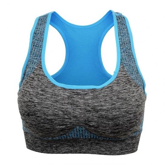 Women Professional Sports Bra Padded Push Up Shockproof Seamless Wire Free Workout Gym Fitness Bra