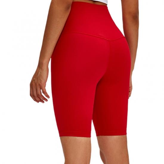 High Waist Yoga Shorts Brushed Material Women Stretchy Compress Super Soft Gym Shorts