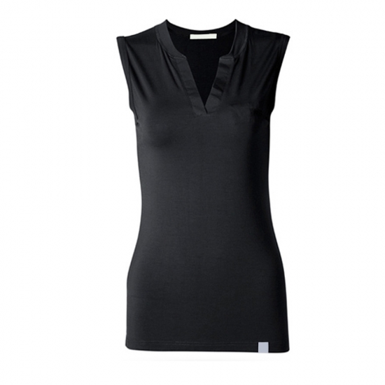 Sleeveless V-Neck Solid Color New Custom Style Tank Tops For Women Casual And Street Wear