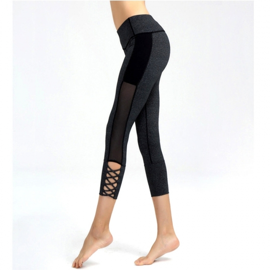 Yoga Waist Band Buttery Soft Double Brushed black solid color leggings for women