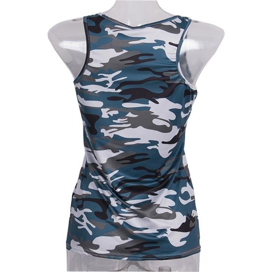 Casual Women Singlet Camo Color Custom Design For Yoga Waer Fitness Wear