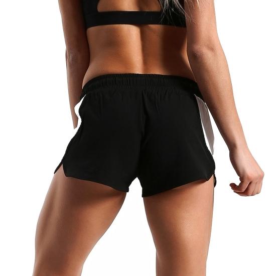Women Yoga Shorts Reflective Strip Seamless Sports Short Fitness Female Tight High Waist