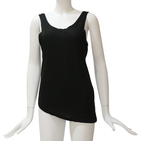 New Fashion Bottom Cut Style Off Back Custom Color Tanks for Workout Wear and Fitness Wear