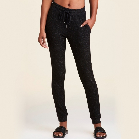 Sexy High Waist Loose Fleece Sweatpants Trousers With Pockets Winter Black And Whit Other Colors