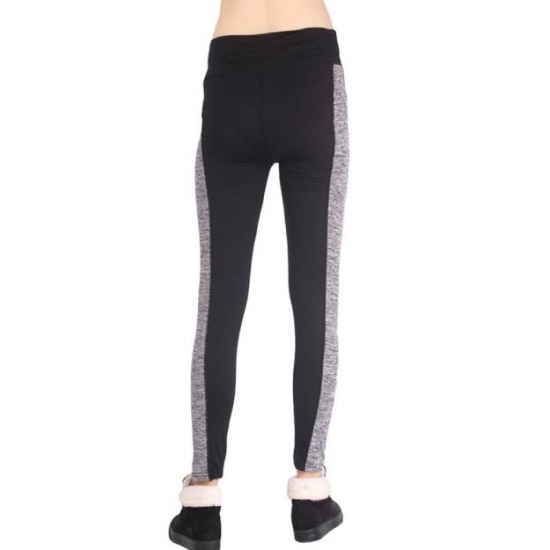 Soft Black And Grey Leggings Plus Size High Waisted Workout Leggings for Women