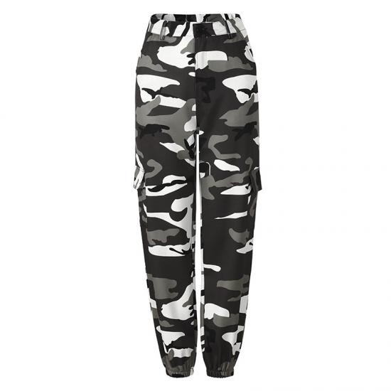 Women Trousers Women Casual Joggers Gray High Waist Loose Female Trousers