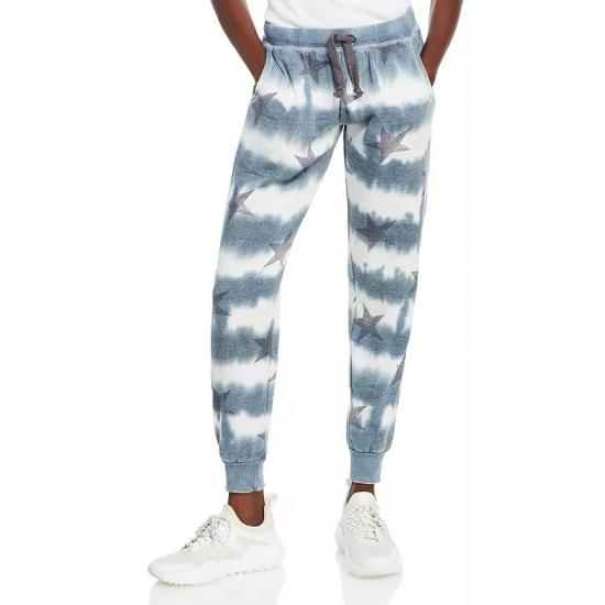 Tie Die Star Printed Women Casual Jogger Pants