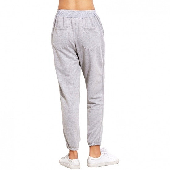 Front And Back pocket Joggers Sweatpants Women High Waist Loose Street Hip Hop Casual Sports Pants