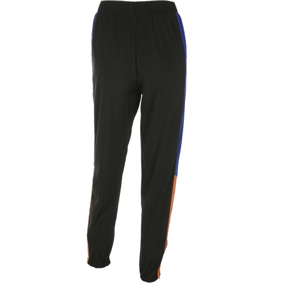 High Waist Pants With Strep Winter Fall Casual Loose Trousers Black