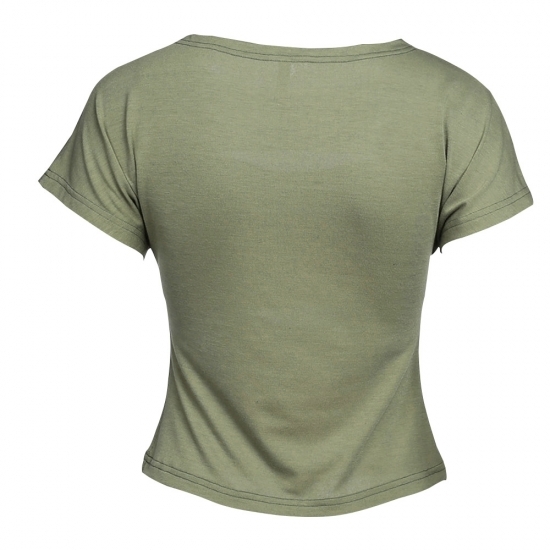 New Design O Neck Rough Style Custom T Shirts For Yoga Crop Top For Athletic Wear