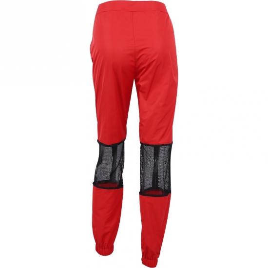 Patchwork Zip Pockets Joggers Sweatpants Women Trousers Elastics High Waist