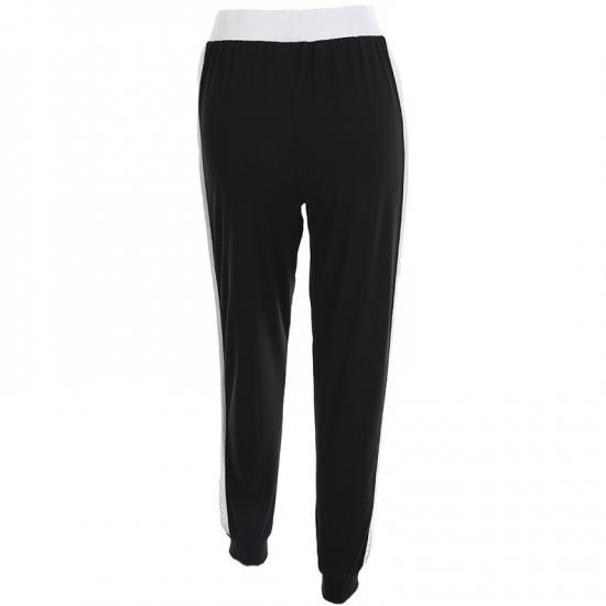 Joggers Sweatpants Patchwork Said Design Trousers  High Waist Pockets Solid Color Pants