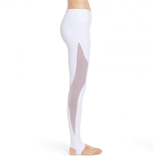 Quick-Drying Sun Protection Sports Tights White Yoga Legging Pants For Women