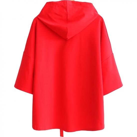 Women Fashion Winter Outwear Woolen Hoodies for Ladies