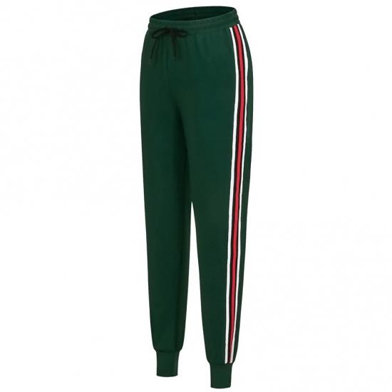 Spring Sweatpants Women Casual Harem Pants Loose Trousers For Women Black Striped Side Sweat Pants