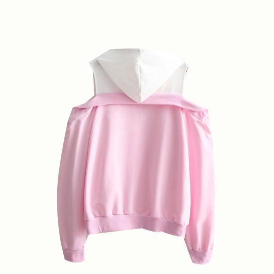 Women Off Shoulder Casual Winter Hoodies
