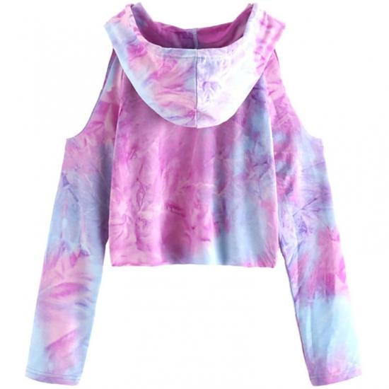 Cropped Women Tie Dye Printed Hoodies