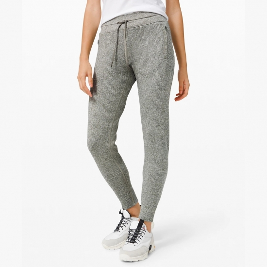 Winter Fashion Girls Two Side Zip Pocket Solid Sports Ladies Pencil Jogger Pants