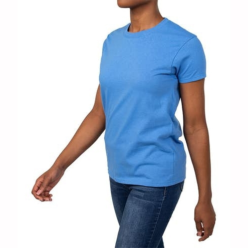 Solid Color Custom Design Cotton Womens T‑shirt for Casual and Workout Wear