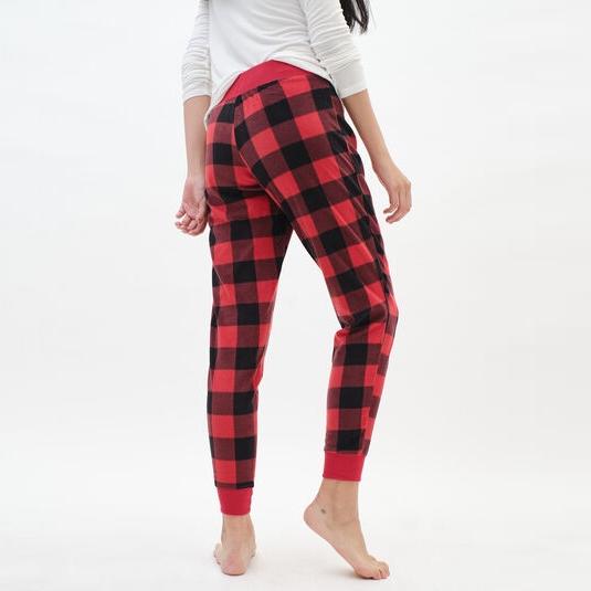 Casual Check Printed Jogger Pants Women