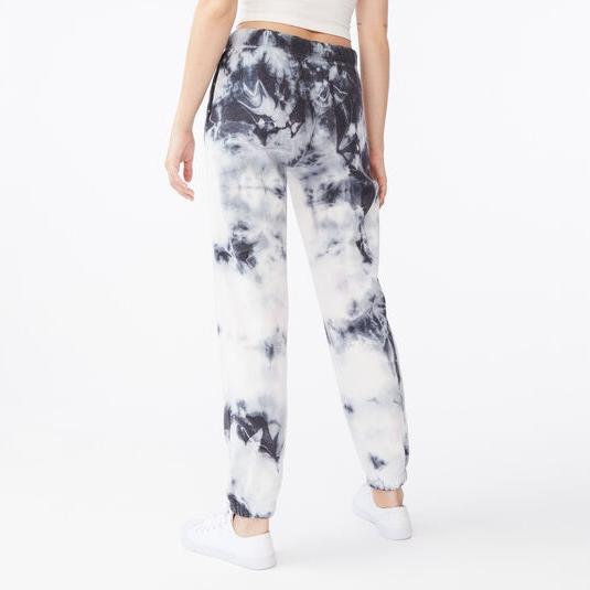 Tie Die Printed Jogger Pants For Women Casual Wear