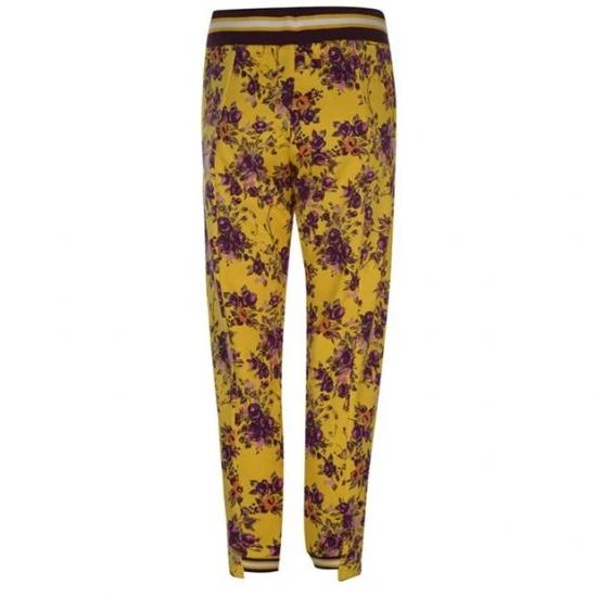 Flower Printed Hot Jogger Pants For Fitness Girls