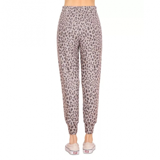 Casual Wear Leopard Printed Jogger Pants For Women