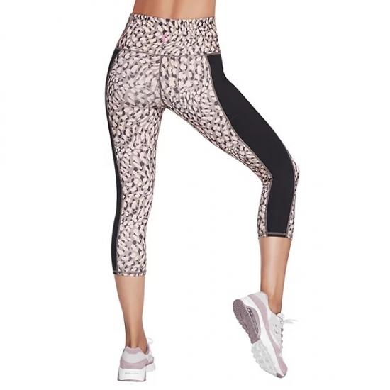 High Waist Band Custom Printed Capri Pants For Yoga Wokout Women