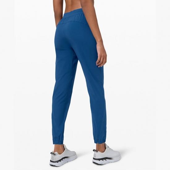 Women Running Yoga Pants Zip Pocket Elastic Waist Fitness Gym Pants Sport Trouser Ladies