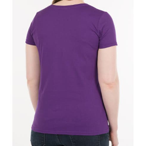 Womens Solid Color Custom Cotton T‑shirt