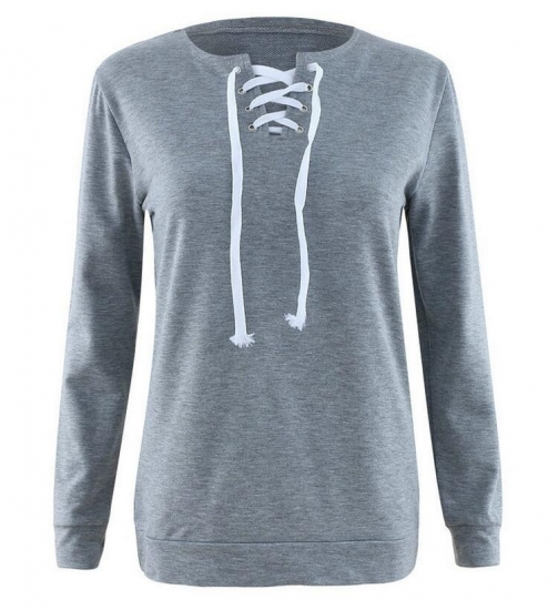 Plain Crew Neck Sweatshirts Women