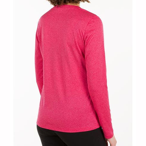 Women Long Sleeve V‑Neck Performance Shirt for Running and Workout