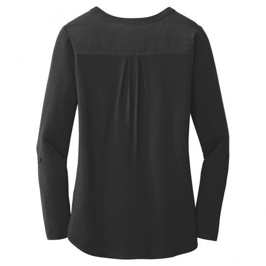 Customized Women Front Button Style Deep Neck Full Sleeve Shirt