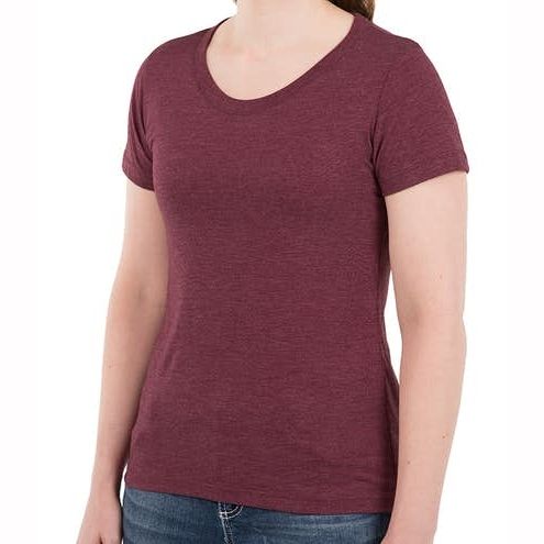 Women Slim Fit Tri Blend T Shirt