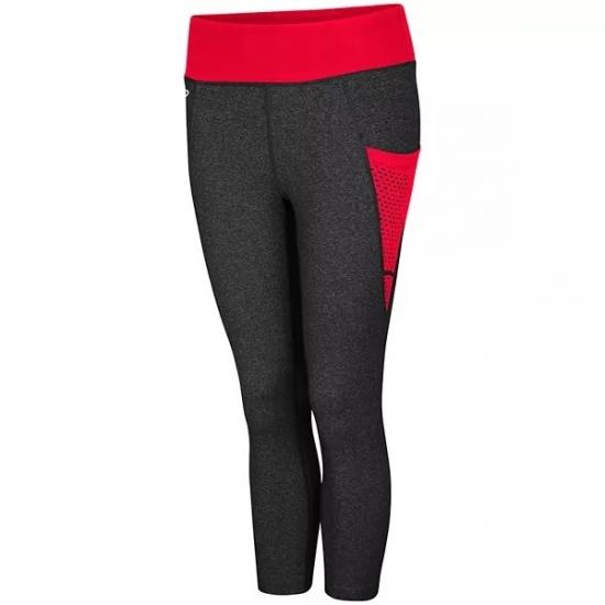 Bottom Stripped Design High Waist Leggings For Running And Yoga