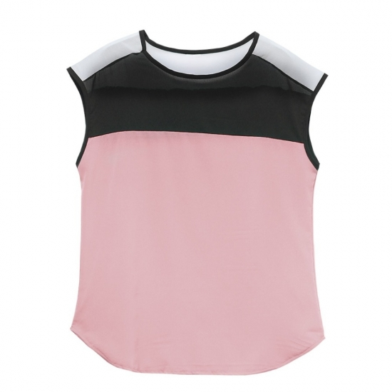 Women Clothing Sexy Cute Crop Tops T Shirts Trance Pear Yoke Round Bottom Styles Crop Tops