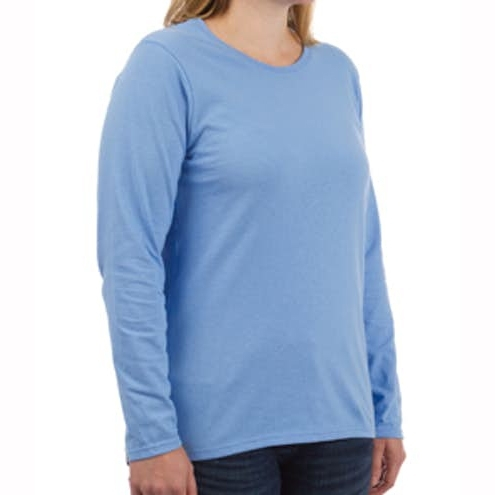 Womens 100% Cotton Long Sleeve T‑shirt for Athletic and Casual Wear