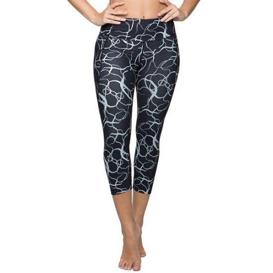 Printted Capri Pants Women For Running And Yoga Workout
