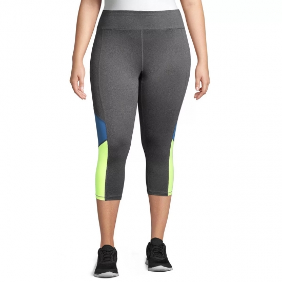 High Waist Plus Size Capri Pants For Yoga And Workout