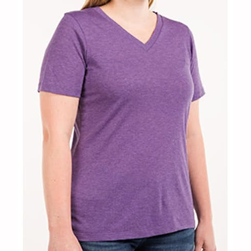 Womens Tri‑Blend V‑Neck T‑shirt