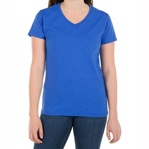 Womens 100% Cotton V‑Neck Half Sleeve T‑shirt For Running And Casual Wear