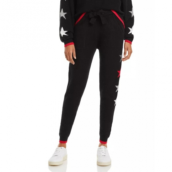 Left Side Star Printed Women Casual Jogger Pants For Women