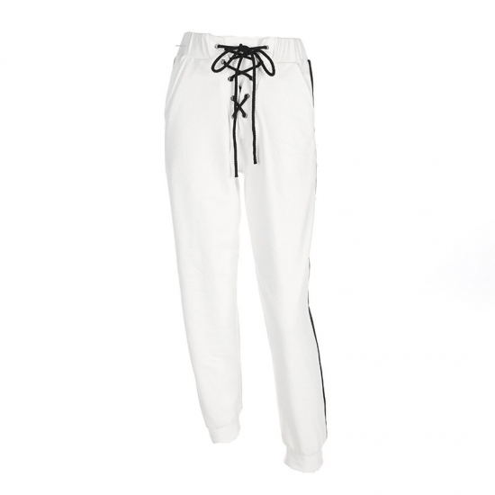 Winter Fashion Solid Color Track Sweatpants Women Casual Trousers