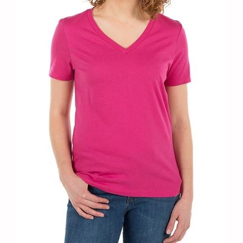 Womens Jersey V‑Neck Half Sleeve Custom T‑shirt