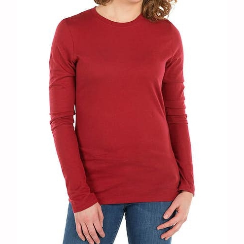 Women Slim Fit Long Sleeve Jersey T Shirt